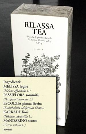 Relaxing herbal teas